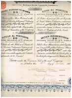 Associated Gold Mines of British Columbia & Guiana, 1903, 20 LB, deutscher Text