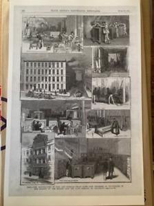 "MOSLER SAFE & LOCK CO Advertisement 1885 PHOTOCOPY 11""x17"""
