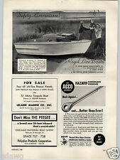 1955 PAPER AD Regal Line Boats St Cloud Marine Boat Richard Cole Feather Craft