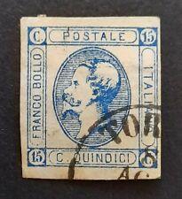 Regno, 15 cent litografico usato