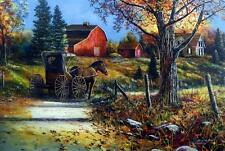 """Jim Hansel """"Country Roads"""" Horse and Buggy Art Print    16"""" x 12"""""""