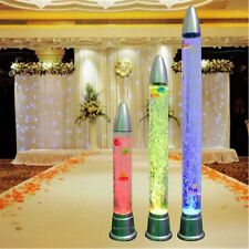"40""Multi-Color Bubble LED Lighted Tube Aquarium Water Column Fountain Decoration"