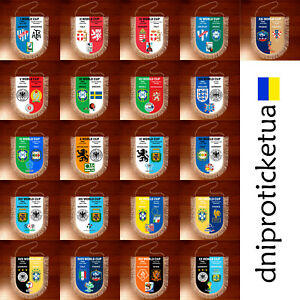 Football pennants World Cup 1930 - 2018