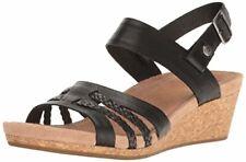 UGG Women's Serinda Wedge Sandal, Black, 8 US/8 B US