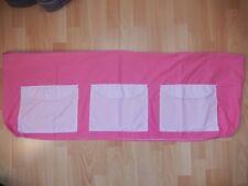 Housse rose pour barrière de lit , avec poches