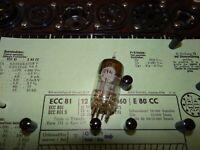E-Röhre Valvo ECC 81 D-Getter TKP Code 9/8 mA auf Funke W19 geprüft BL1635