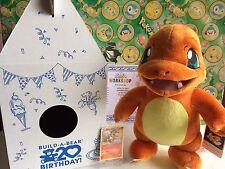 Pokemon Plush Charmander Card Box certificate Build A bear Stuffed figure Doll