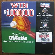 1997 World Series Cardboard Advertising Display Piece - Gillette Contest Sign