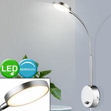2x LED Vogel Design Wand Leuchten Flexo Chrom Strahler Schlaf Zimmer Lampen Flur