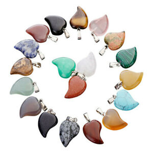 Charms natural crystal quartz stone small heart pendant for jewelry making 25pcs