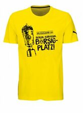 Puma Fußball Borussia Dortmund Herren BVB T-Shirt zum DFB Pokalsieg 2017 gelb