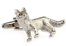 Fox Cufflinks Silver Vulpes Artic Dad Wedding Fancy Gift Box Free Ship USA