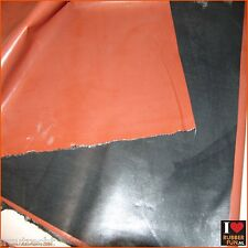 Rubber bed protector - waterproof - black & hospital red - 200 x 85 cm - 0.48 mm