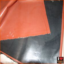 Rubber bed protector - waterproof - black & hospital red - 85x200cm - 0.48mm