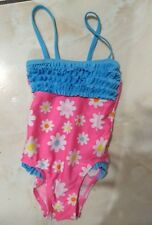 Pink Jump N Splash size 2T one piece toddler swimsuit ruffles UV 50+ protection