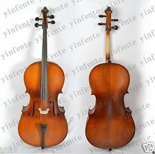 Acoustic full size Cello Fine Tone Hand Carve Solid wood New 4/4 Maple Spruce #1