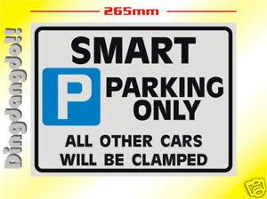 Smart Car Parking Sign Novelty Gift