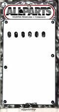 """PLAQUE VIBRATO Tremolo BackCover STRAT US BLANC White 3ply .09"""" 56mm PG0556-035"""