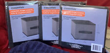 NEW Convenience 3 Pieces Foldable Storage Cubes With Handle  Gray - 9x9x8 in