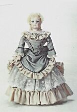 """17""""ANTIQUE FRENCH FASHION GAULTIER LADY DOLL CLOTH BODY@1876 GOWN/DRESS PATTERN"""