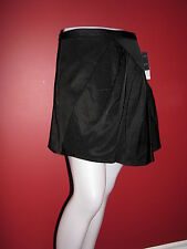 NANETTE LEPORE Women's Black Embossed Fabric Saucer Skirt - Size 4 - NWT $298