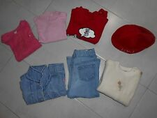Lotto stock bambina 12/18 mesi maglia giubbino pantaloni jeans berretto benetton