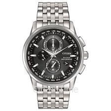-NEW- Citizen World Chronograph Atomic Timkeeping Eco-Drive Watch AT8110-53E