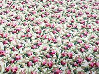 Vintage Handmade Heating Pad Cover Zippered Pillowcase Rose Print Boho Farmhouse