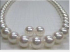 classic sets 11- 12mm natural south sea white pearl necklace18inch earring 14k