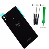 Sony Xperia Z3V Verizon D6708 Back Door Battery Cover Glass Replacement Black