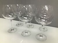 Set of 6 Etched Gin Glasses French Style Traditional Drinking Vintage Boxed