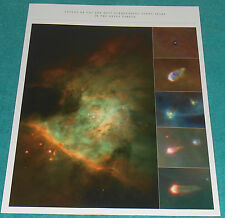 NASA Hubble Clouds of Gas & Dust Surrounding Young Stars Orion Nebula Photo
