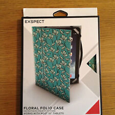 "EXSPECT UNIversal 10 "" CASE TEAL FLORAL APPLE IPAD SAMSUNG GALAXY"