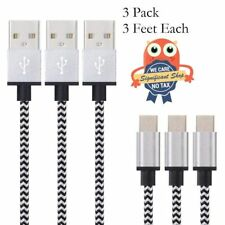 Android Micro USB Cable Cord Samsung Phone Charger 3 Pk Sync Data Charging Speed