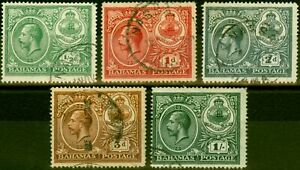 Bahamas 1920 Peace Set of 5 SG106-110 Fine Used
