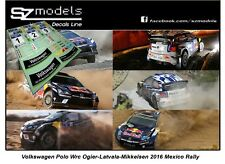 1/43 Rally Decal Additif Vw Polo Wrc Ogier Latvala Mikkelsen Mexico 2016 no ixo