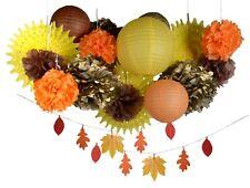 Thanksgiving fall harvest autumn party decoration kit leafs lantern pompom