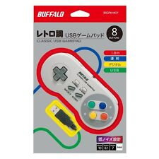 NEW Buffalo BSGP815GY Super Famicom SNES SFC Classic USB Gamepad for Windows