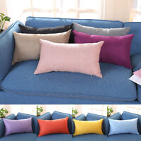 30x50cm Rectangle Cotton Linen Cushion Covers Throw Pillow Cases Sofa Home Decor