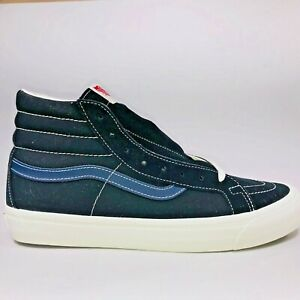 VANS OG SK8 HI LX Suede Black, Dress Blue & White Sneakers VN0A45JLVQP Size 11.5