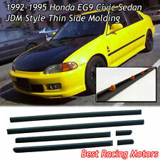 Thin Side Door Molding (ABS) Fits 92-95 Honda Civic 4dr Sedan