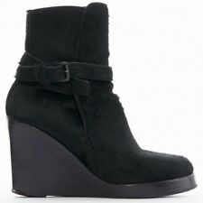 Ann Demeulemeester Pony Skin Belted Plateforme Cheville Bottes Chaussures EU36 US6 UK3.5