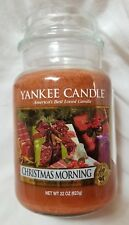 Yankee Candle CHRISTMAS MORNING Large Jar 22 Oz New Housewarmer Brown Festive