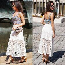 Zara Calf Length Cotton Skirts for Women