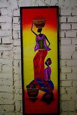 Gemälde Wand Bild Öl Handarbeit Bali Afrika Massai Bunt 122x43 cm