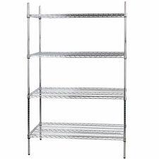 """Heavy Duty 24"""" x 48"""" x 74"""" Silver Metal Wire Rack Storage Shelf Commercial"""