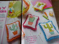 X Stitch Chart Pins & Prickles Pin Cushions Cactus From Desert to Desktop