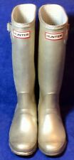 "Gold HUNTER Classic Rubber Rain Boots Sz 6 / 37 Tall Knee ""MetorGW"""