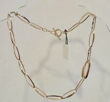THE FIFTH SEASON by ROBERTO COIN Rose Gold Oval Link Chain Toggle Necklace   NEW