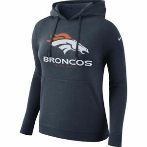 Nike Women's NFL Denver Broncos Pullover Club Hoodie Navy 909473 Size XL